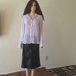 Beautiful white and purple long sleeves shirt